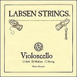 Larsen Cello Strings in medium and strong